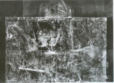 6. Radiografía del cuadro de Las Hilanderas. Restaurado por Carmen Garrido y su equipo del Museo del Prado. Publicado en Garrido (1992).