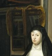 9. Detalle del Retrato de Mariana de Austria. Madrid, Museo Nacional del Prado, nº inv. 644.
