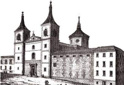Vista del desaparecido Convento del Espíritu Santo de madrid.