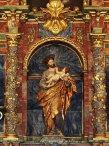 Detalle del San José del retablo del Hospitalillo de San José en Getafe.