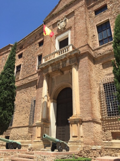 Vista de la fachada del Palacio del Viso del Marqués.