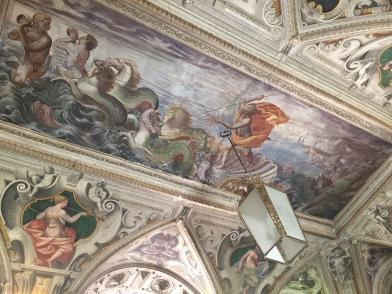 Representación de Neptuno en el zaguán del Palacio del Viso del Maqués.