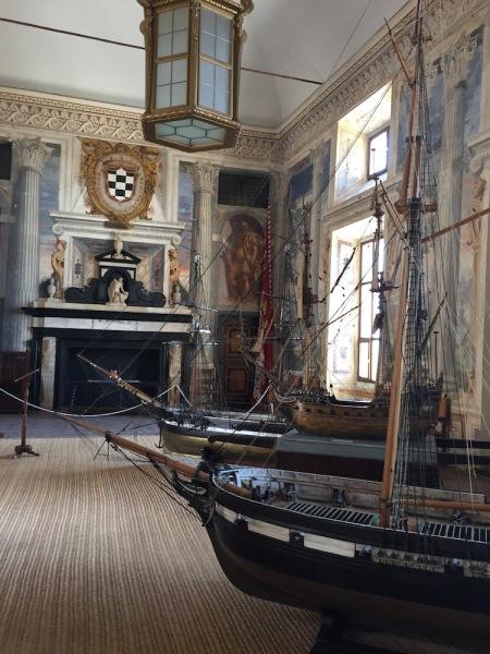 Vista del Salón de Honoro del Palacio del Viso del Marqués.