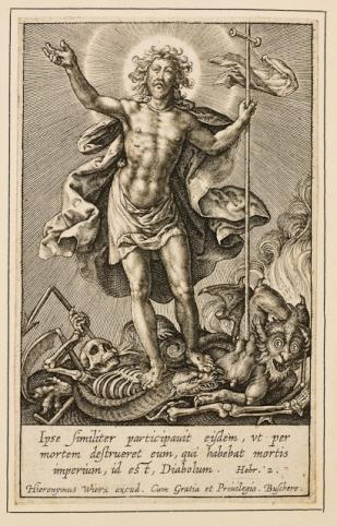 Hieronymus Wierix: Cristo Triunfante, anterior a 1619.