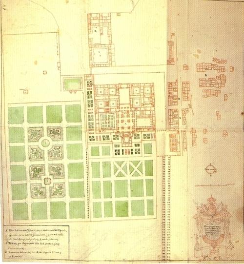 G.B. Novello: Plano de El Escorial, 1740.