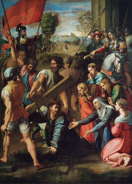 Rafael Sanzio: El Pasmo de Sicilio o Cristo camino del Calvario. Madrid, Museo Nacional del Prado.