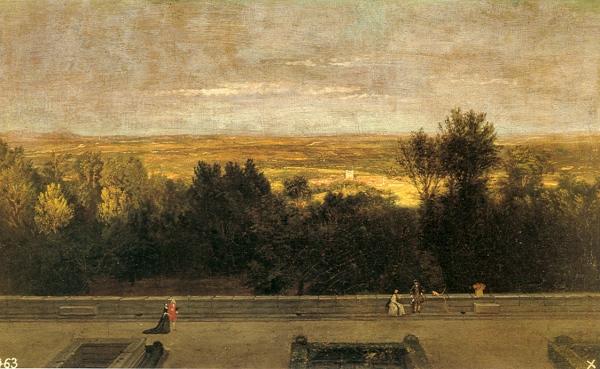 Miguel Ángel Houasse: El jardín del Rey en El Escorial.