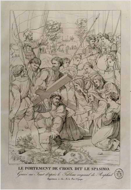 """Grabado de Bonneimason del """"Pasmo de Sicilia"""" de Rafael."""