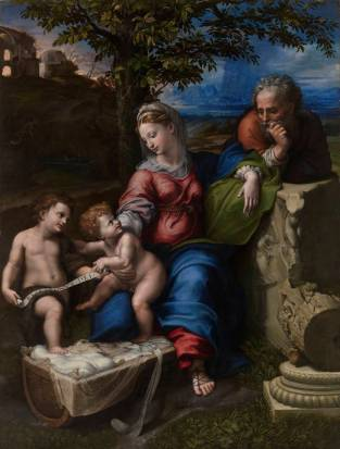 Rafael Sanzio y Giulio Romano: Sagrada Familia del Roble. Madrid, Museo Nacional del Prado.