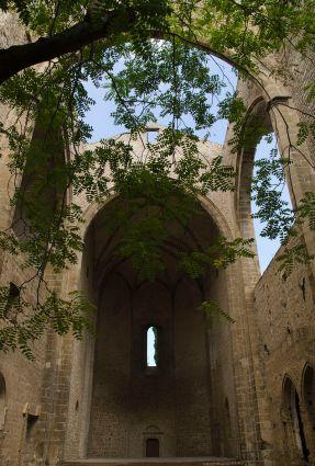 Restos de la Iglesia de Santa María dello Spasimo en Palermo en la actualidad.