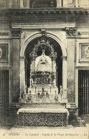 Foto antigua de la Capilla de la Virgen del Sagrario.