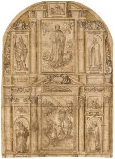 Alonso Cano: Diseño para un retablo sobre Cristo Camino del Calvario.