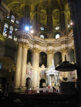 Capilla mayor de la catedral de Málaga.