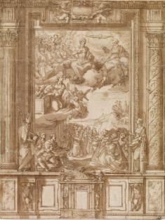 Alonso Cano: Diseño para un retablo. Londres, British Museum.