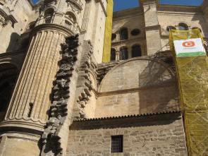 Vista de una de las zonas inacabadas de la catedral de Málaga.