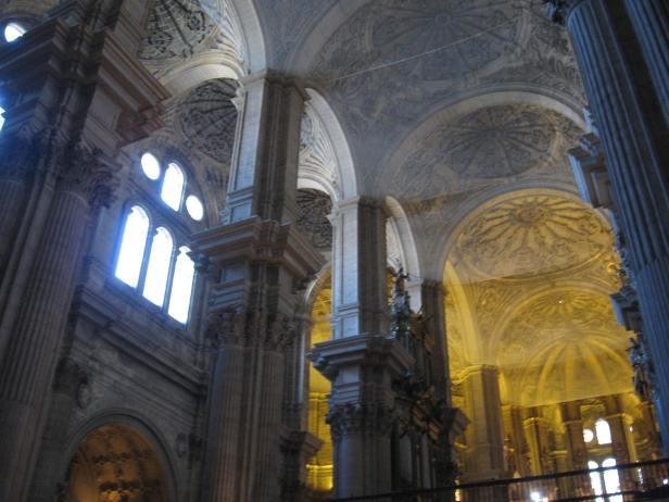 Interior de la catedral de Málaga.