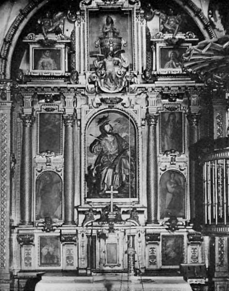 Alonso Cano: Retablo de San Juan Evangelista en la Iglesia de Santa Paula, Sevilla.