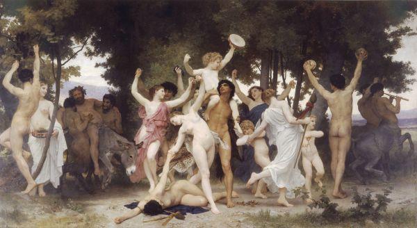 William-Adolphe Bouguereau: La juventud de Baco. París, Museé D'Orsay.