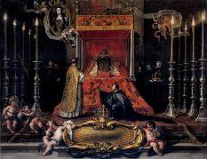 Sebastián Muñoz: Muerte de María Luisa de Orleáns, primera esposa de Carlos II. New York, Hispanic Society.