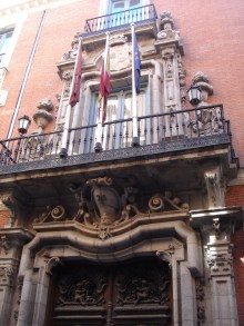 Pedro de Ribera: Portada del Palacio de Santoña.