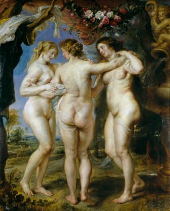 Pedro Pablo Rubens: Las tres Gracias. Madrid, Museo Nacional del Prado.