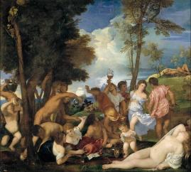 Tiziano Veccellio: Bacanal de los Andrios. Madrid, Museo Nacional del Prado.
