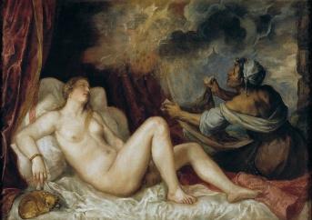 Tiziano Veccellio: Dánae. Madrid, Museo Nacional del Prado.