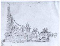 Giulio Parigi y Jacques Callot: Detalle, Carroza de África.