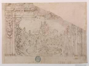 Juan Fernández de Laredo: Boceto para una decoración teatral. Madrid, Biblioteca Nacional.