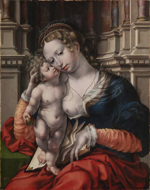 Juan Gossaert: Virgen con el Niño. Madrid, Museo Nacional del Prado.