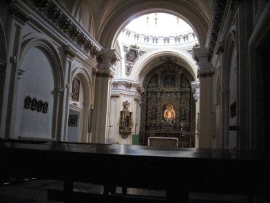 Vista interior de la Ermita de Nuestra Señora de los Ángeles, Getafe.