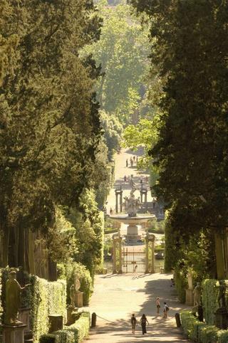 Vista de los Jardines de Boboli del Palazzo Pitti, Florencia.