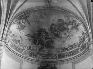 José Cano de Arévalo o Juan Vicente de Ribera: La Asunción de la Virgen en el ábside de la Capilla Mayor (Fototeca del Patrimonio Histórico).
