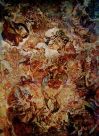 Antonio Palomino: Bóveda de la Nave de la iglesia de los Santos Juanes en Valencia.