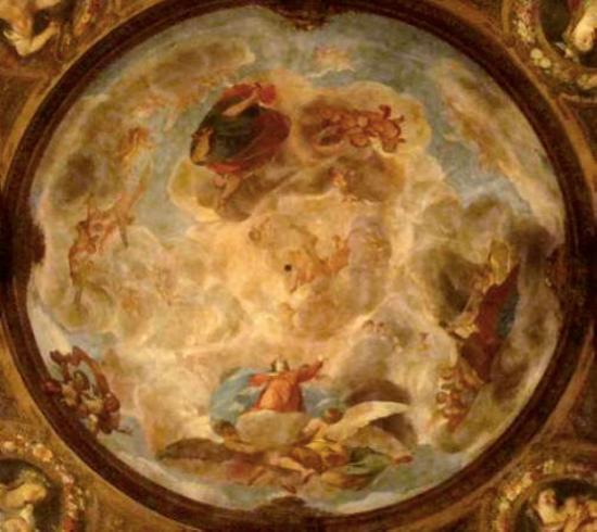 Antonio Palomino: Cúpula de la Asunción de la Virgen en el Oratorio de la Casa de la Villa de Madrid.