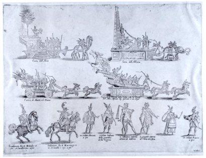 Giulio Parigi y Jacques Callot: Fiesta en honor del Gran Duque de Toscana, 1615-1616.