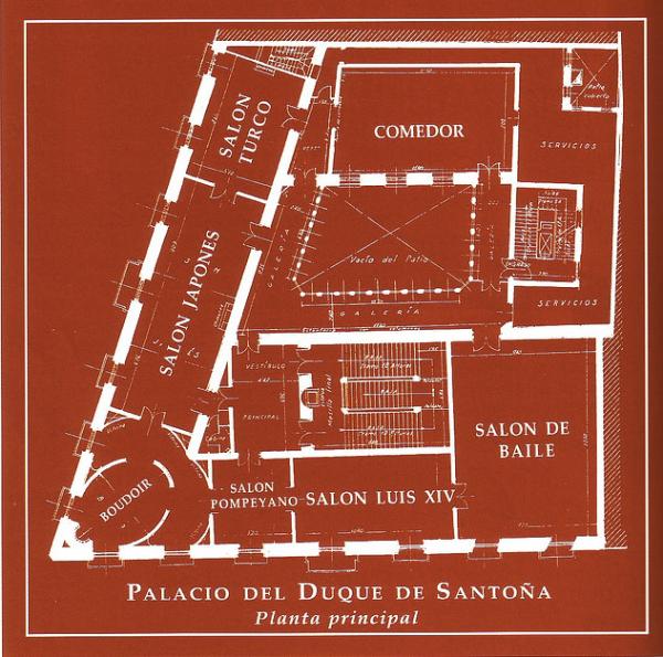 Planta principal del Palacio de Santoña.