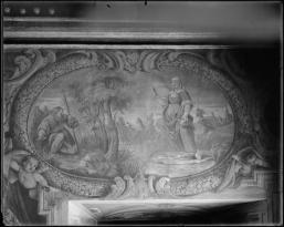 Antonio Palomino: Detalle de la Historia de San Isidro y Santa María de la Cabeza en el Oratorio de la Casa de la Villa de Madrid.