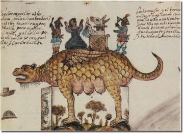 Dibujo de la Tarasca para el Corpus Christi de 1663 en Madrid.