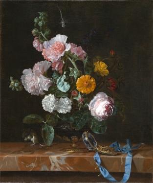 Willem Van Aelst: Vanitas con florero. Siglo XVII. North Carolina Museum of Art.