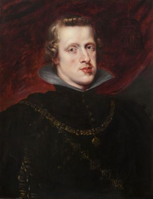 Pedro Pablo Rubens?: Retrato de Felipe IV. Galería Mercé Ros.