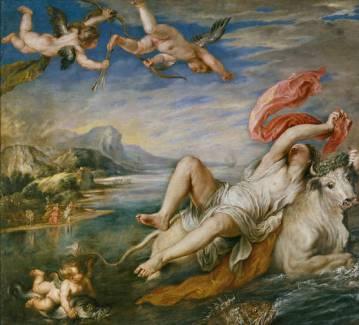 Pedro Pablo Rubens, copia de Tiziano: El Rapto de Europa. Madrid, Museo Nacional del Prado.