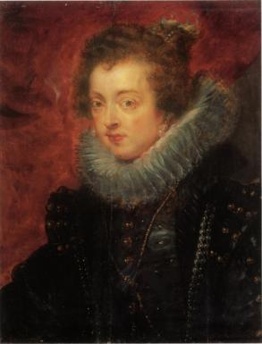 Pedro Pablo Rubens: Retrato de Isabel de Borbón. Óleo sobre tabla. 64x49,5 cm. Colección particular inglesa.
