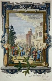 "Johann Jakob Pintz: ""La danza del Rey David"", Abies Musicis Grata. Grabado."