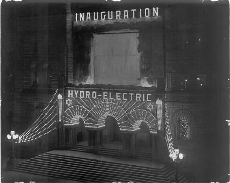 Inaguración del sistema eléctrico de la ciudad de Toronto en 1911.