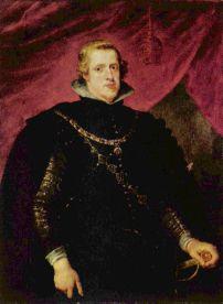 Pedro Pablo Rubens y taller: Retrato de Felipe IV. Munich, Alte Pinakothek.
