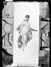 J. Laurent. Alegoría de la Pintura de Sans Cabot