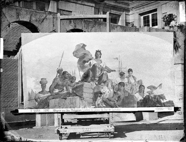 J. Laurent. Alegoría de las Filipinas por Sans Cabot. Foto del fondo Ruiz Vernacci (IPCE)