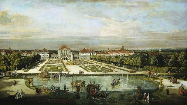Antonio Canaletto: Vista del Palacio de Nymphemburg.