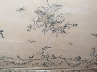 Decoración al fresco con decoración de rocallas y motivos vegetales del Amalienburg.